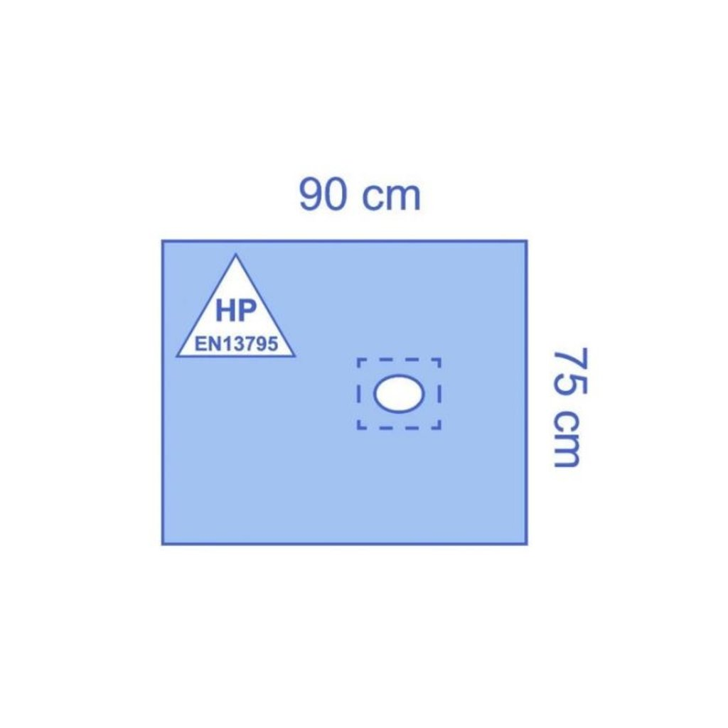 Essential Ensemble de draps perforés auto-adhésifs Essential pour petites interventions 75 x 90 cm (25 pièces)