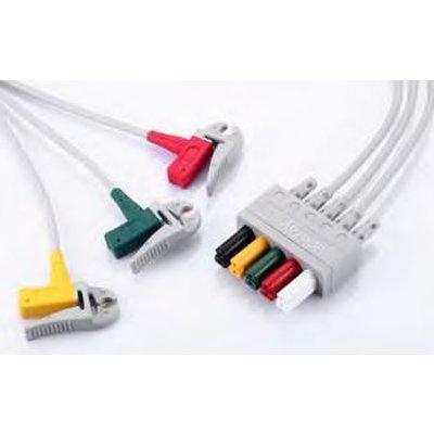 3-Lead ECG wires, Clip, Adu, TPU, IEC
