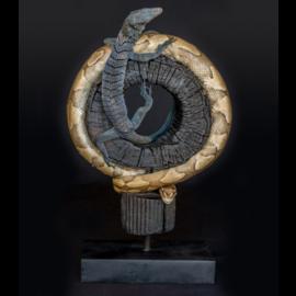 De Wonderkamer Cloche avec Python Royal & Lézard Moniteur