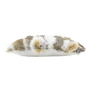 De Wonderkamer Coussin de fourrure de lapin