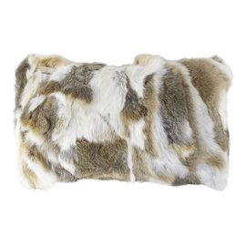 De Wonderkamer Rabbit fur cushion