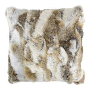 De Wonderkamer Rabbit fur cushion
