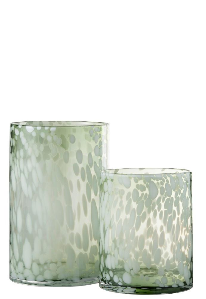 Windlicht Glas WHITE (Medium)-2