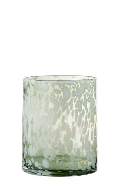 Windlicht Glas WHITE (Medium)