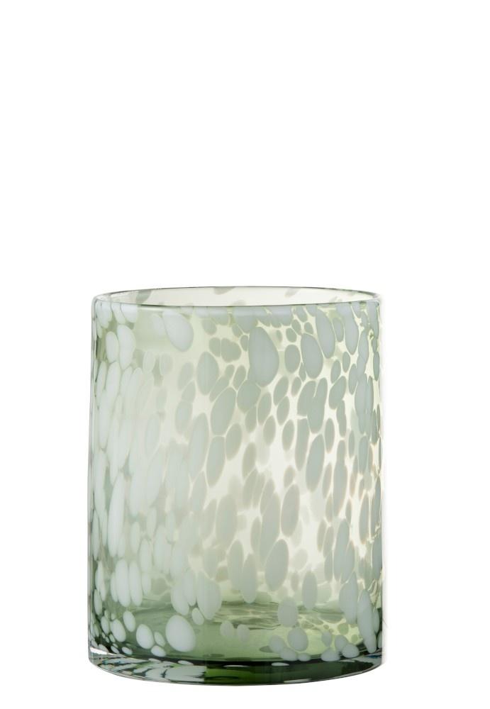 Windlicht Glas WHITE (Medium)-1