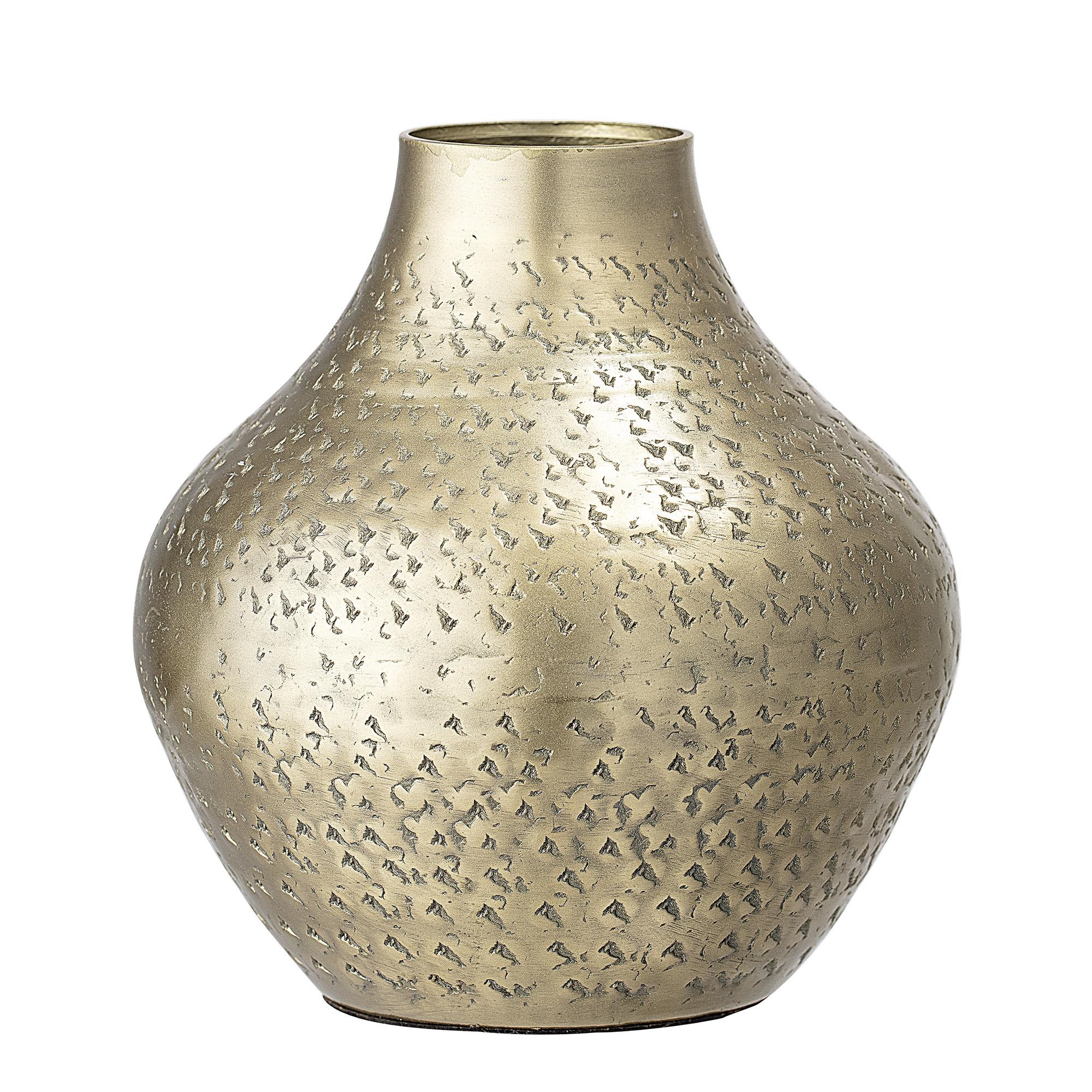 Vaas BRASS - Goud metaal - 13 x 14,5 cm (MEDIUM)-1