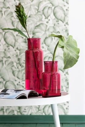 Vaas Cilinder Glas small - Donkerroze-2