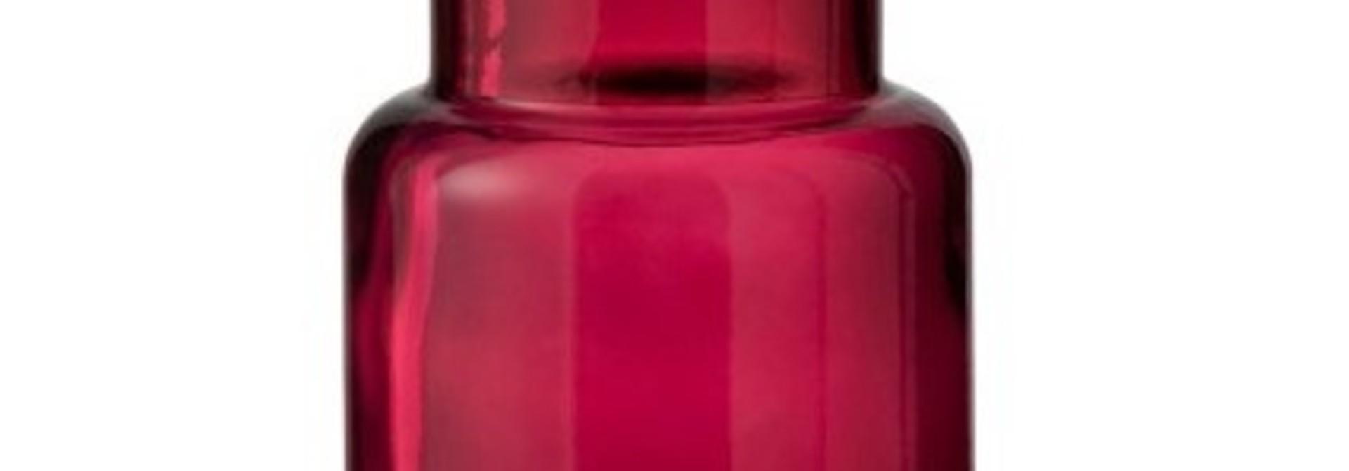 Vaas Cilinder Glas small - Donkerroze