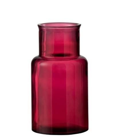 Vaas Cilinder Glas small - Donkerroze-1