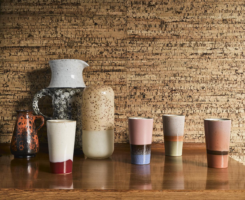 Glazen cilinder vaas - Oranje / geel-2