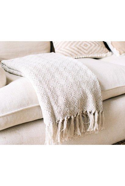 Katoenen deken - beige