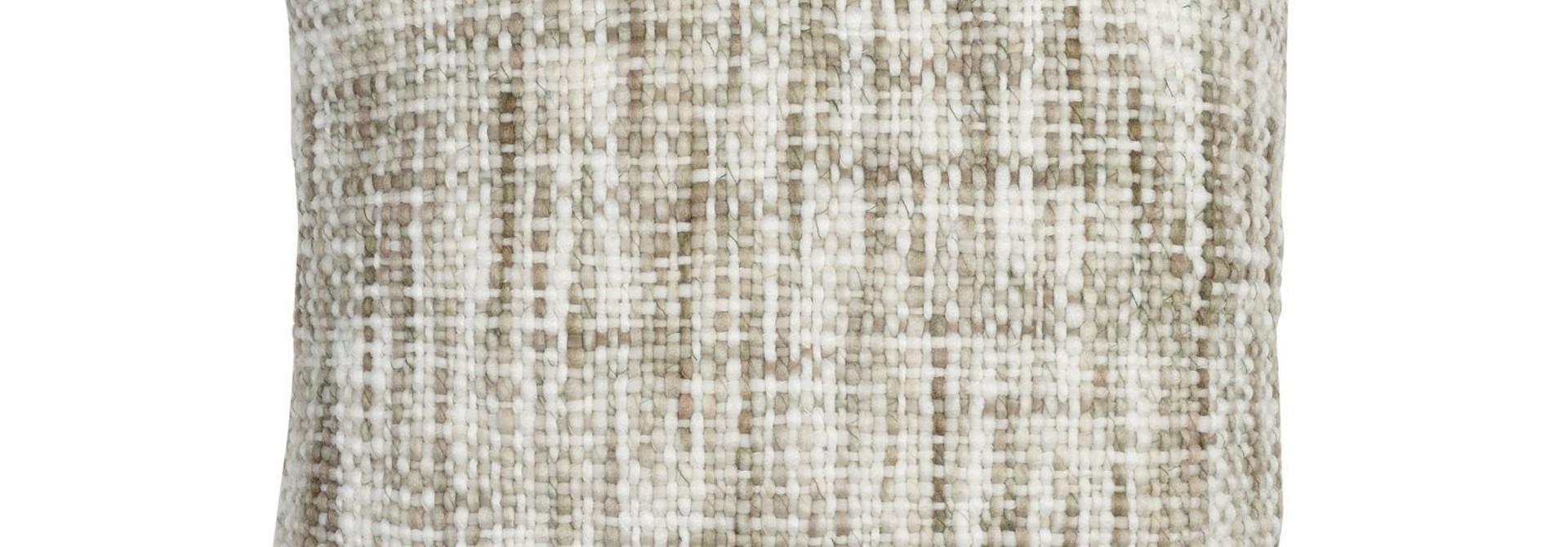 Kussen Katoen - Beige Plaited - 45 x 45 cm