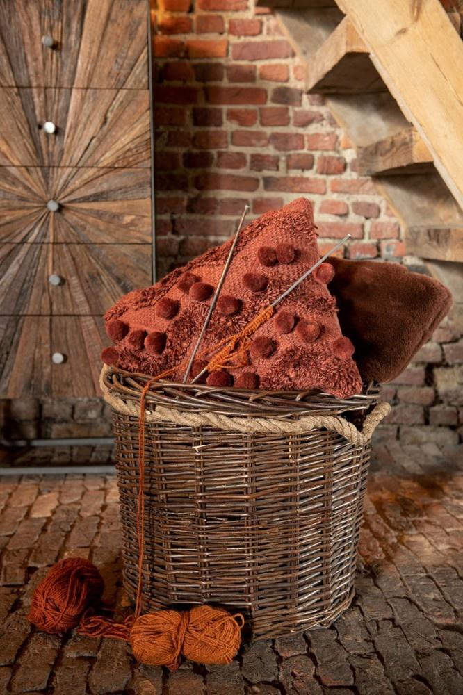 Kussen Zigzag Viscose Rood/Oranje-4