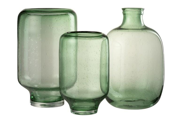 Vaas Nora Rond Glas Lichtgroen-2