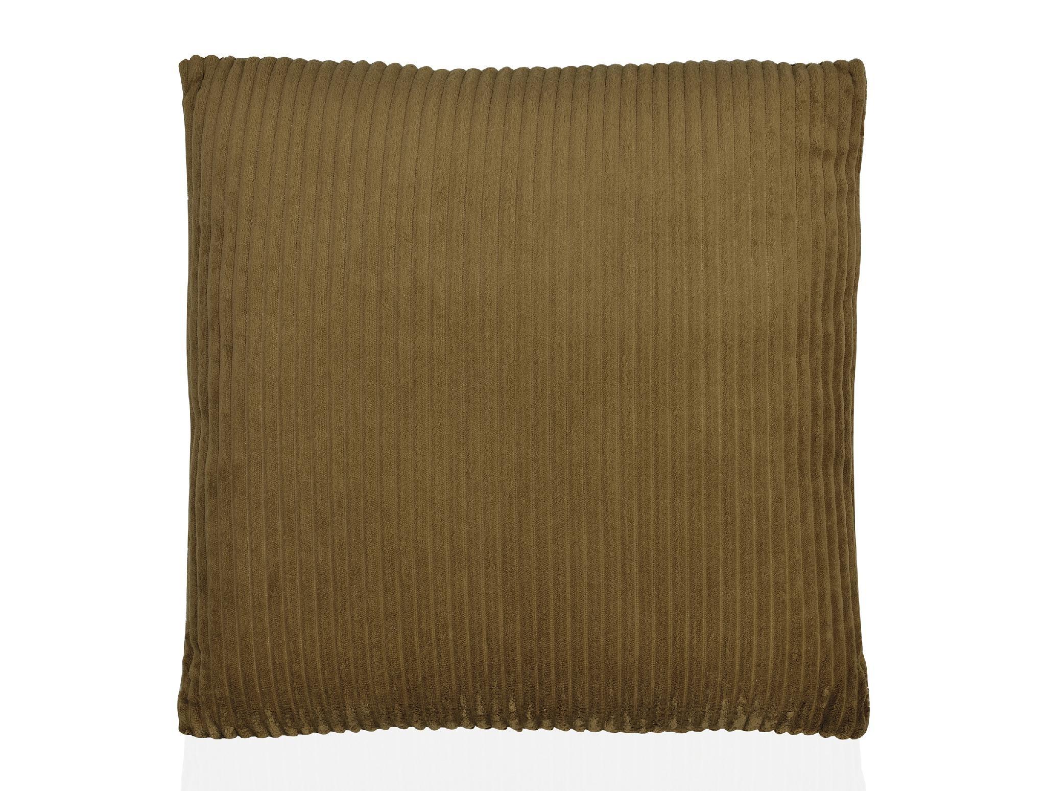 Kussen Dark Beige Corduroy Velvet - 45 x 45 cm-1