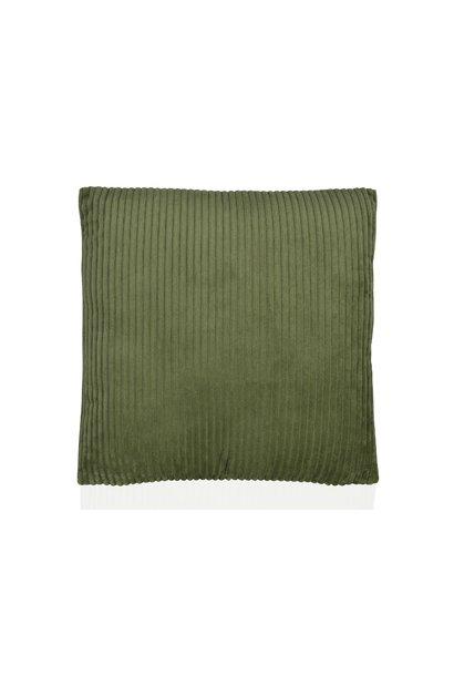 Kussen Green Corduroy Velvet