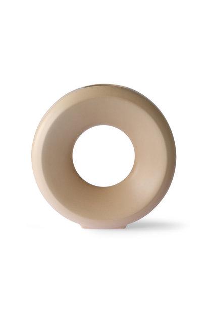 ceramic circle vase l sand