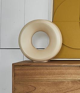 ceramic circle vase l sand-2