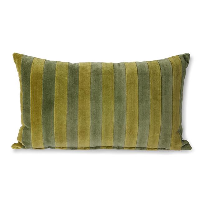 striped velvet cushion green/camo (30x50)-1
