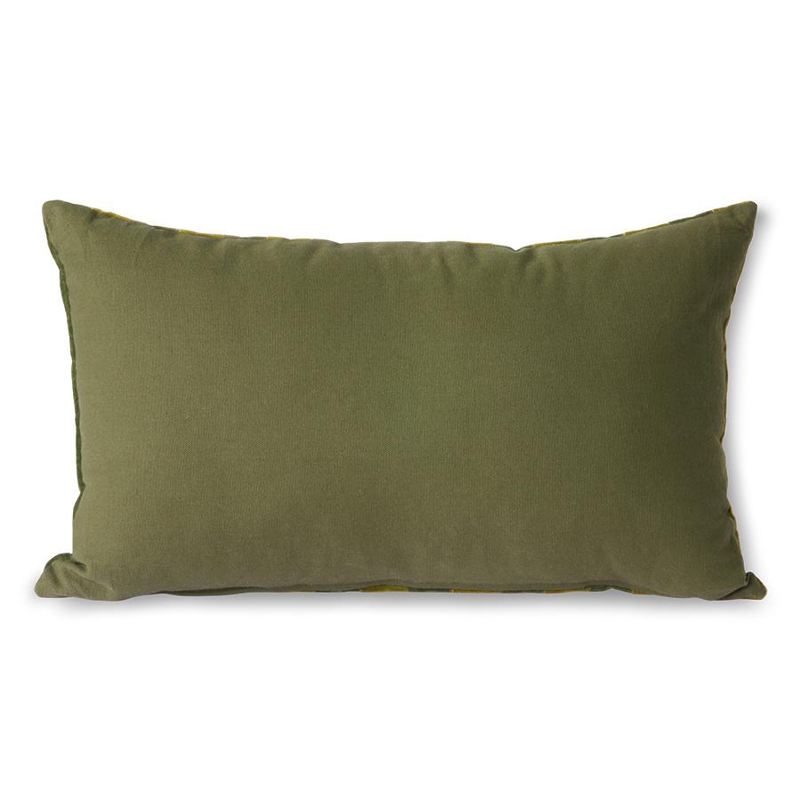 striped velvet cushion green/camo (30x50)-4
