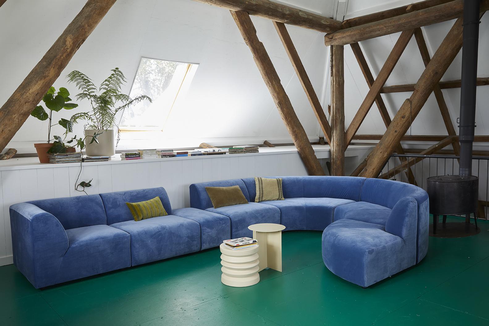 striped velvet cushion green/camo (30x50)-3