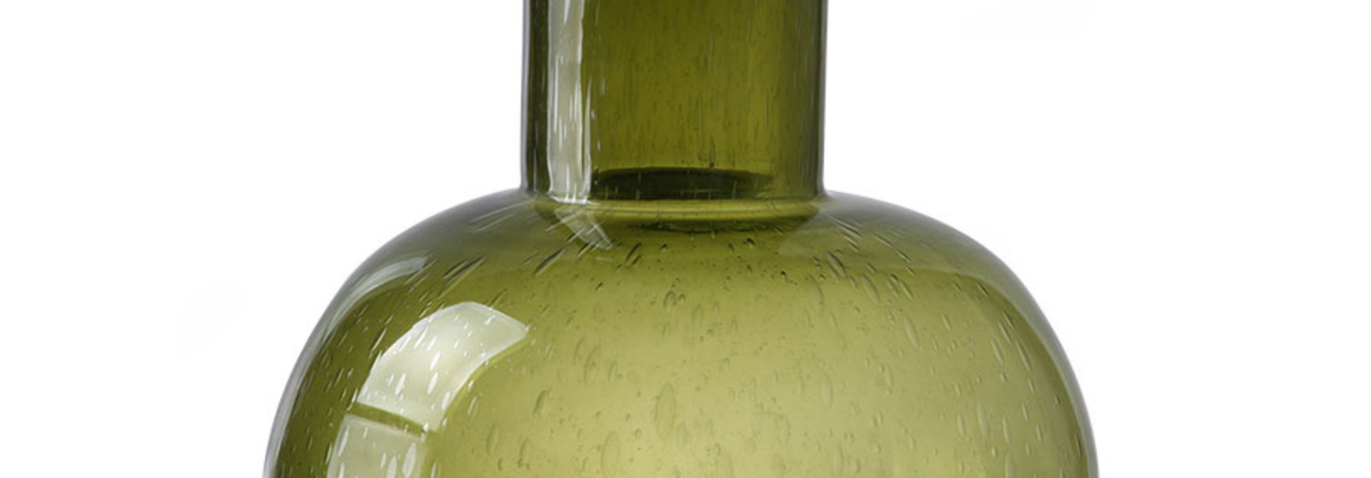 green glass vase l