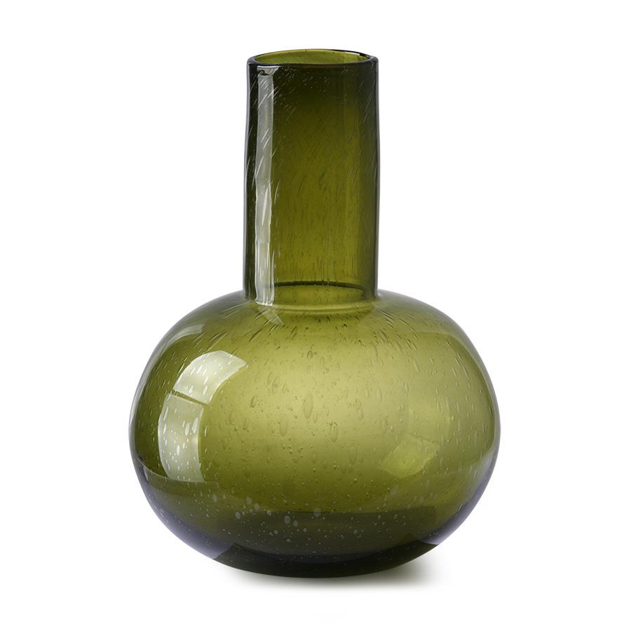 green glass vase l-2