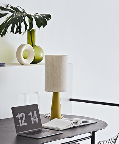 green glass vase l-3