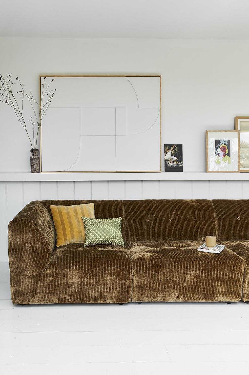 striped velvet cushion ochre/gold (45x45)-4