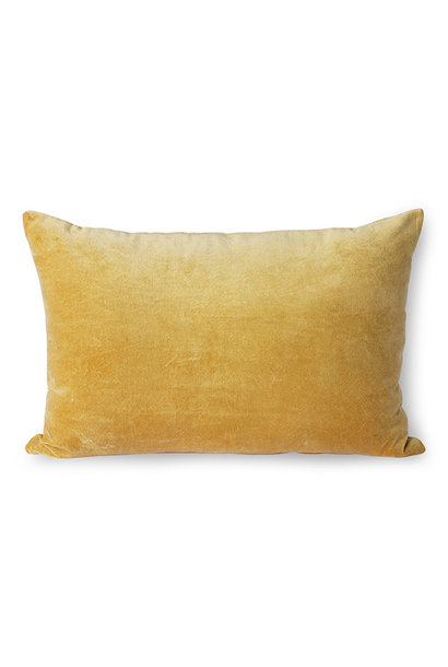 velvet cushion gold