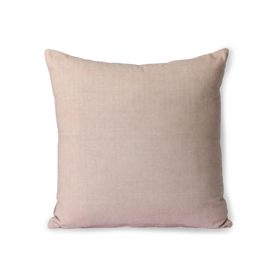 striped velvet cushion beige/liver (45x45)-4