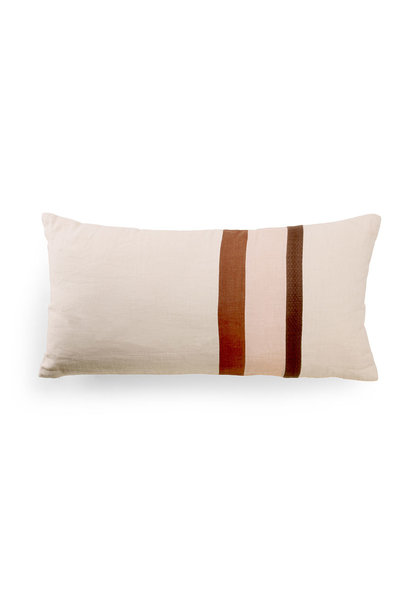 linen striped cushion A