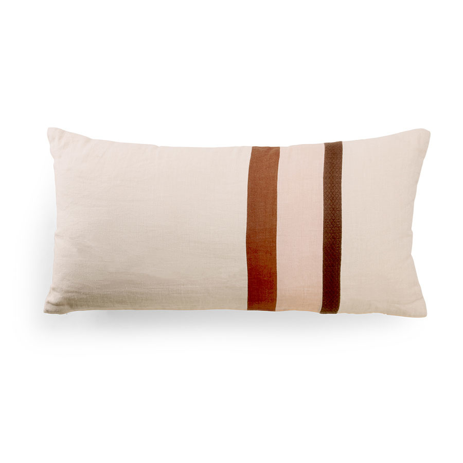 linen striped cushion A (70x35)-1