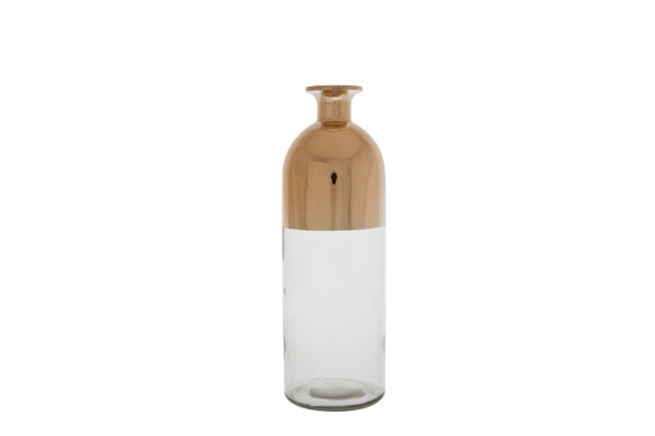 VAAS FLES Transparant GLAS KOPER 9X9X27CM-1