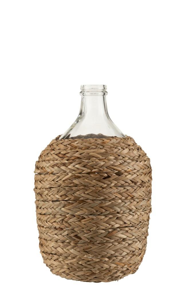 Fles Bedekt Gras/Glas Naturel Small-1