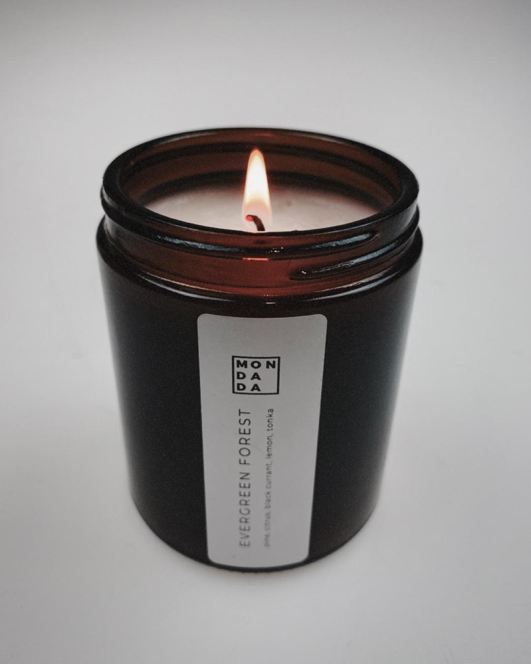 Amber Candle - Small (Evergreen Forest)-2