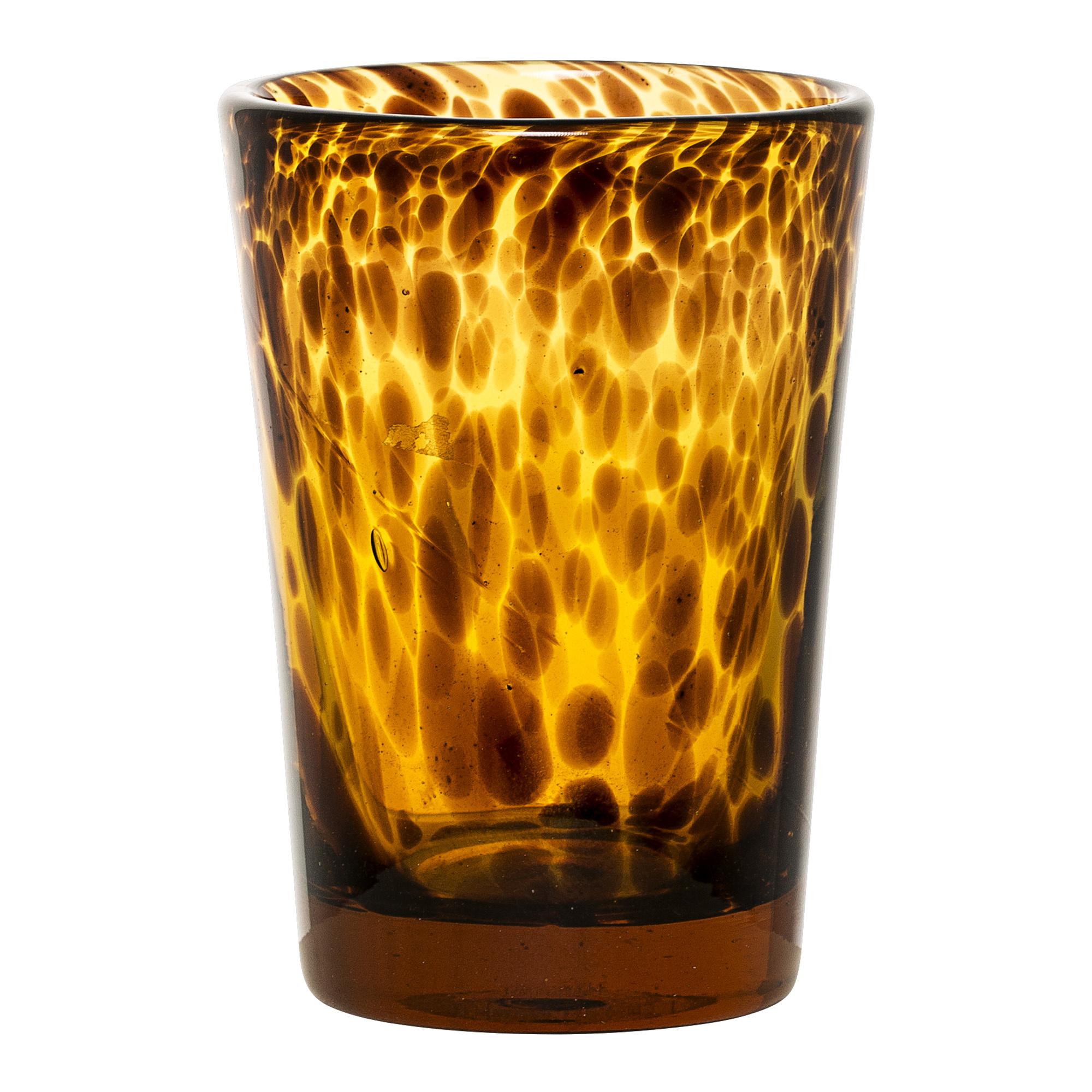 Geggo Votive - Brown Glass-1