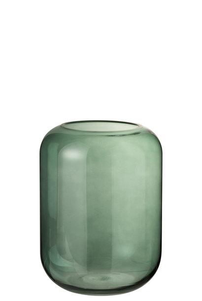 Vaas Rond Hoog Groen Glas Medium