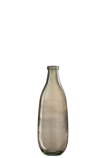 Vaas Fles Glas Lichtbruin Large
