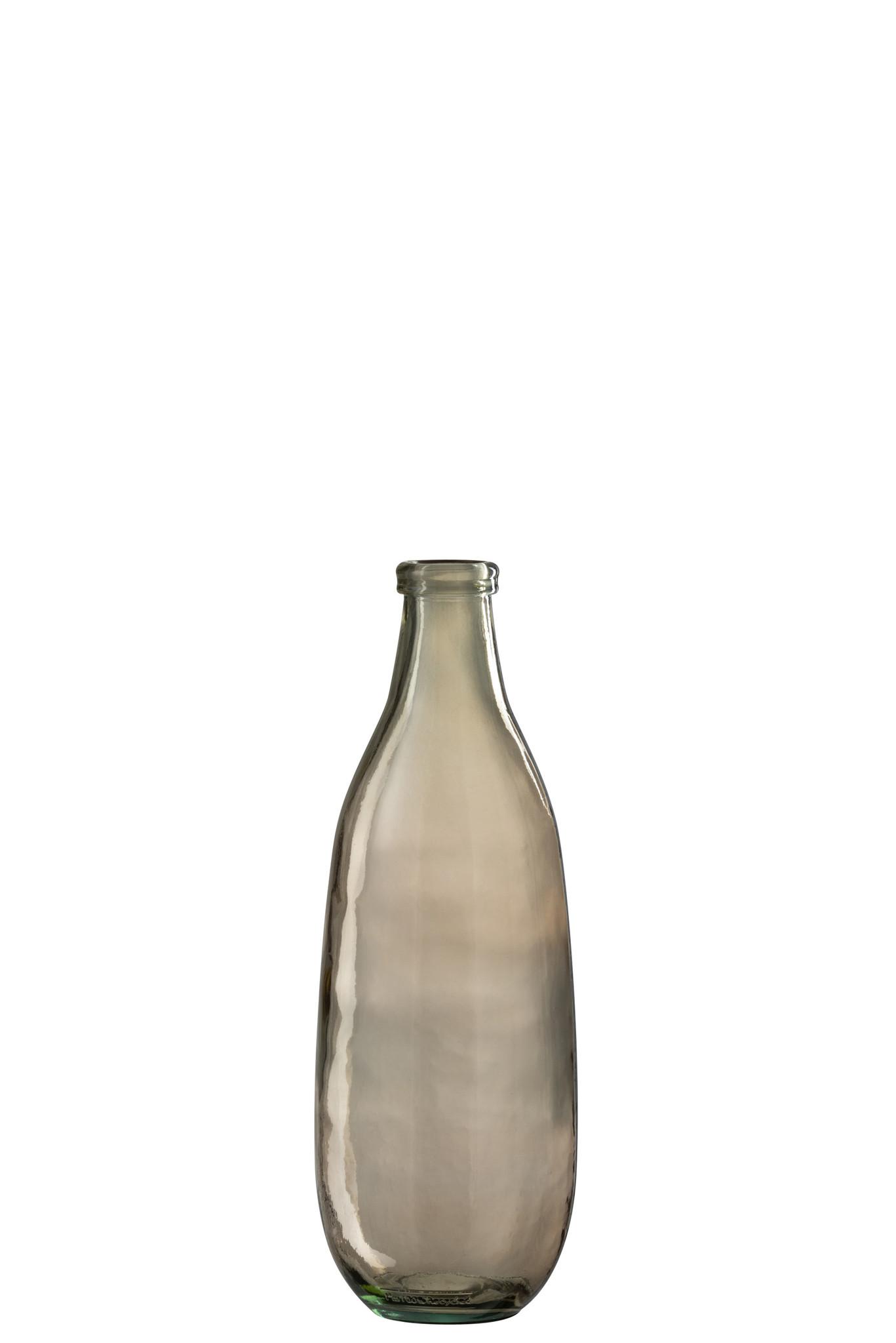 Vaas Fles Glas Lichtbruin Large-1