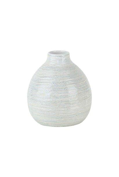 Vaas ballon creme rond aardewerk