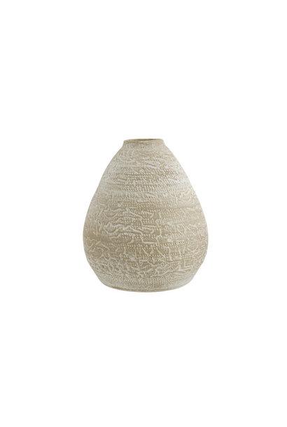 Vaas rough wash beige aardewerk
