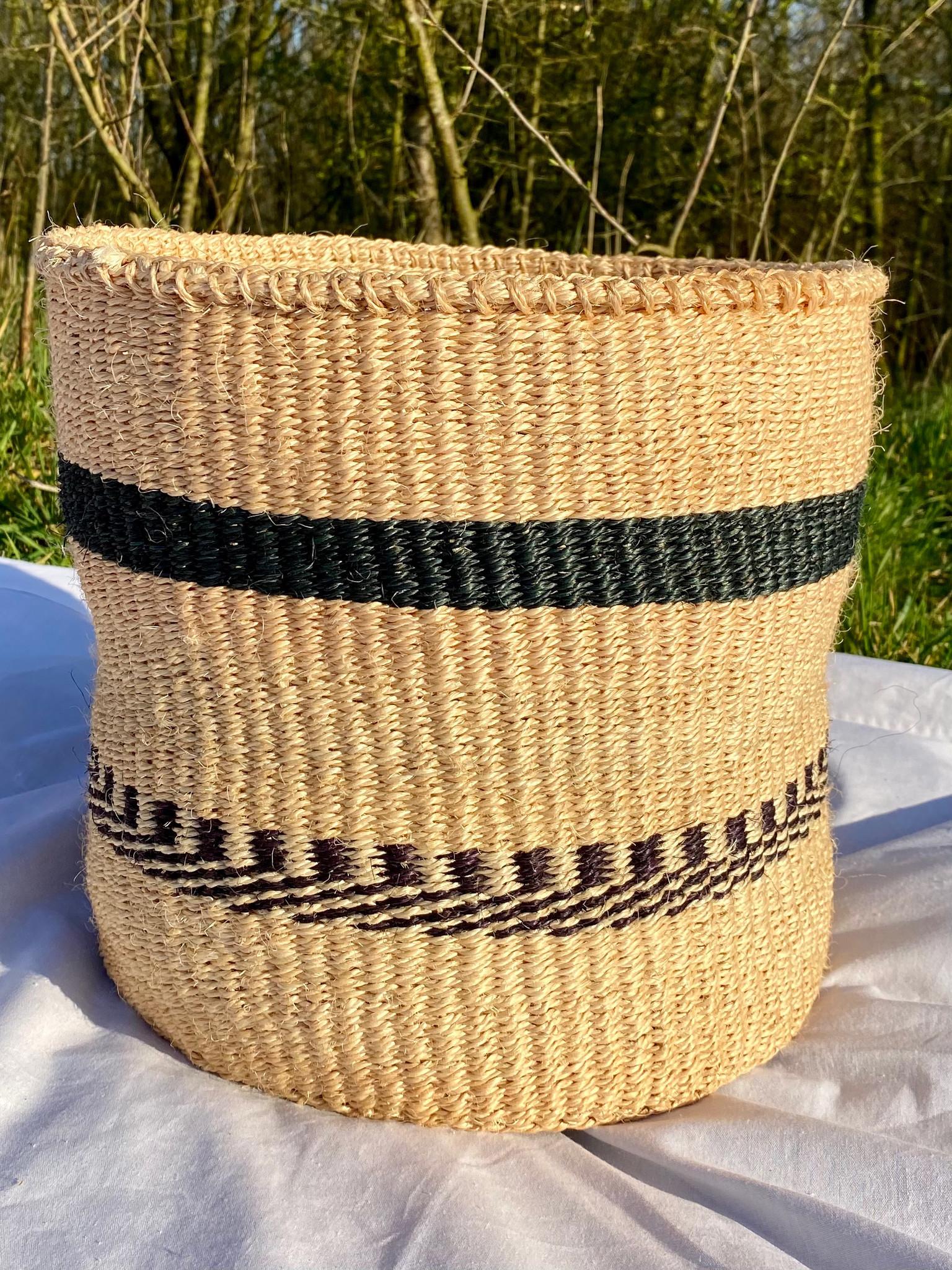 Hadithi Basket - Large colorfull / natural-1