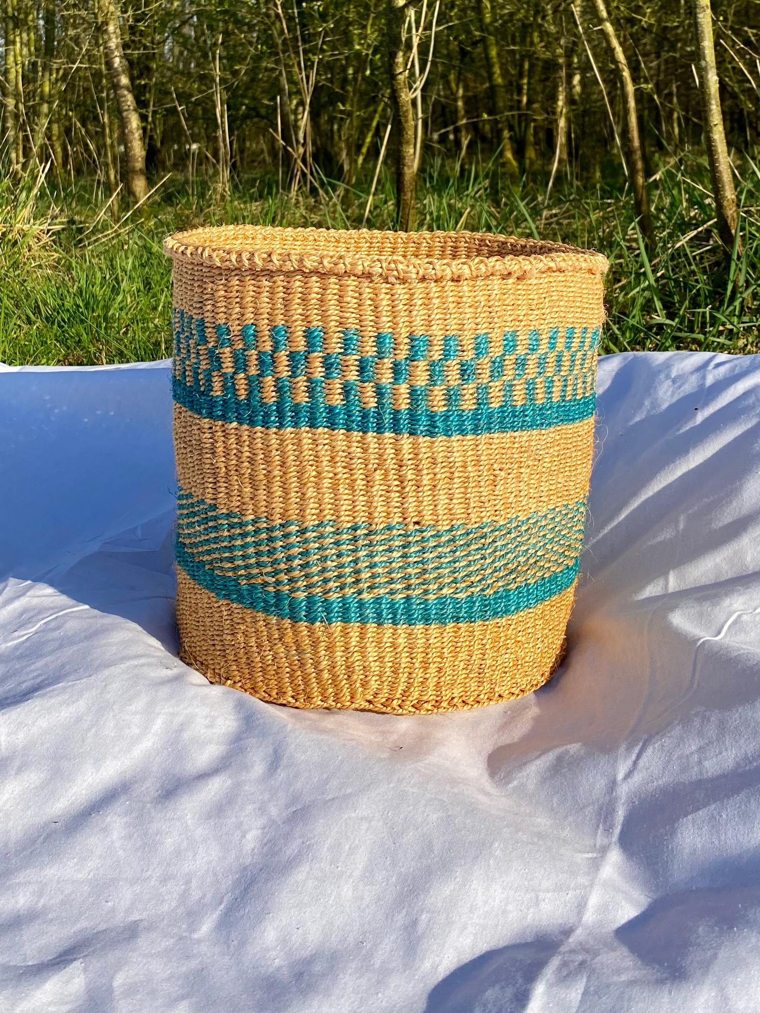 Hadithi Basket - Medium colorfull / natural-1