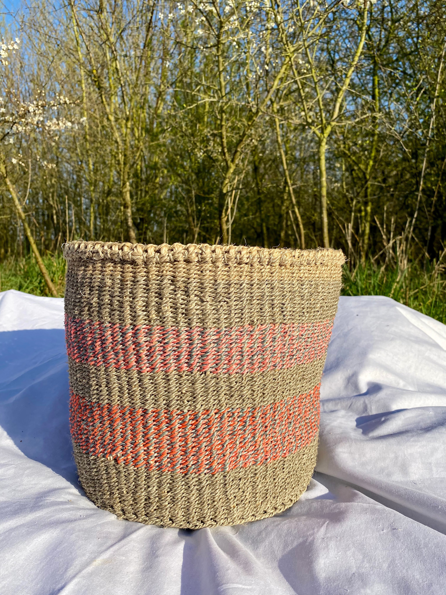 Hadithi Basket - Medium colorfull / natural-1