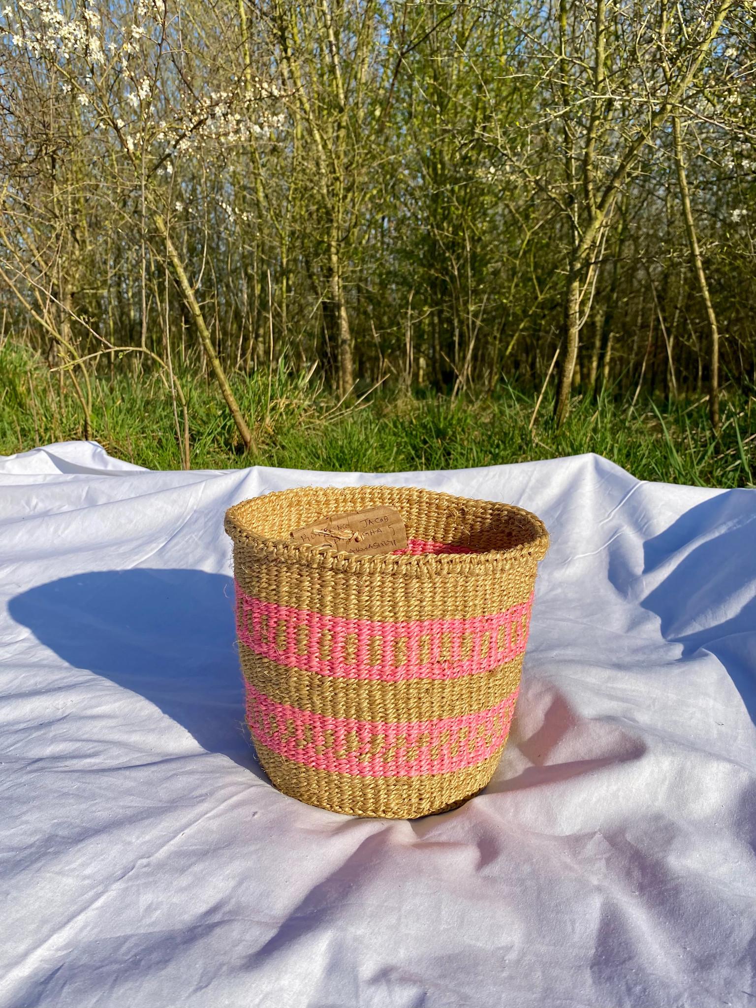 Hadithi Basket - Small colorfull / natural-1