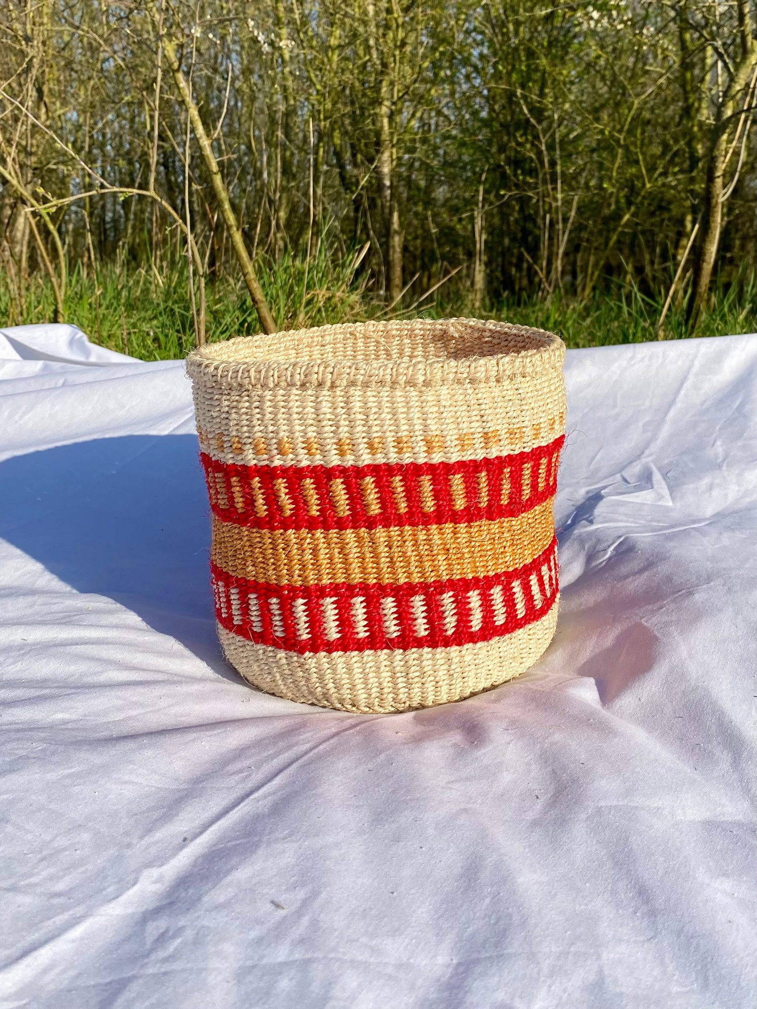 Hadithi Basket - Small colorfull / natural-1