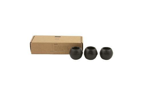 Kaarsen houder zwart gesteente-1