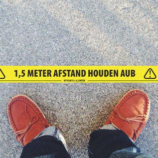 Social Distance Tape - 1,5 Meter Afstand Houden