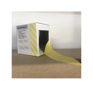 Afzet lint geel-zwart 500m. in dispenser